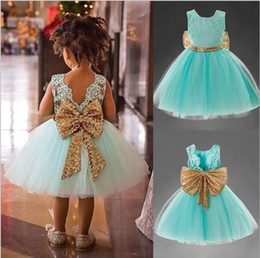 Wholesale Organic Cotton Blend - the most popular new born baby girl tutu dress bow princess flower girl dresses