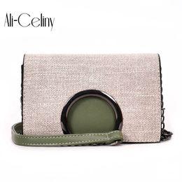 Wholesale messenger bag minimalist - 2018 New Style famous brand Minimalist Crossbody Bag women Shoulderbag messenger Chain Puzzle Ring bags for women