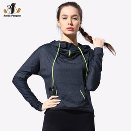 Wholesale Long Jersey Sweatshirts For Women - Wholesale-[AP] Running Jacket For Women Sweatshirt Hoodie Long sleeve Sweater Streetstyle Hooded Cute Workout Sports Jerseys Gym Clothes