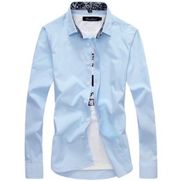 a4723197ede Mens Shirts Long Sleeve Casual Button Down Clearance Shirts For Men High  Collar Big And Tall Large Size M-5XL