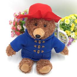 Orso peluche 35cm   14 pollici Indossando un berretto rosso Orso bambola  morbida Animali di peluche Trasporto libero di SME C5039 cappelli  giocattoli ... d9e279ec22bb