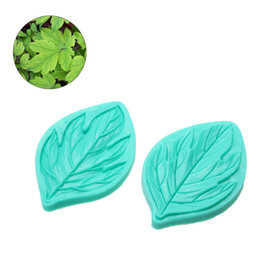 Wholesale Peony Cake - 2Pcs lot Fondant Cake Decorating Tools Flower Making Peony Floral Petal Leaf Veiner Silicone Mold Kitchen Accessories