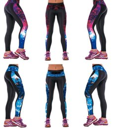 Wholesale-New Galaxy Qickitout Leggings Women's Star Universe Shines Galaxy Purple 3D Print PANTS Women High Waist Pants Trousers Fitness da gilet bianche a compressione mens fornitori