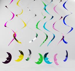 vestiti da filo Sconti Hot 90Cm Party Decoration Colorful Wall Hanging Disegni Helical Hangings PVC Decoratori di Natale Colore misto 6Pcs / Bag