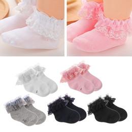 Горячие девушки высокие носки онлайн-Hot New 1 Pair Newborn Baby Cotton Socks Lace Princess Combed Socks for Girls Infant Babe High Quality 5 Colors