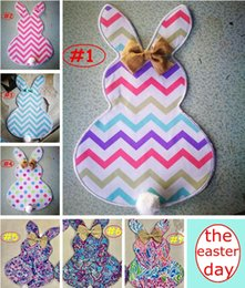 Wholesale Flags Tie - DIY Easter Bunny Flags Canvas Rabbit Chevron Zigzag Garden Flag with Jute Bow Tie Easter Home Decoration Cute Bunny Shape Flags 7styles free