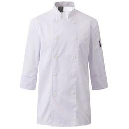 2019 mangas uniforme do hotel Preto Branco Poli de Algodão Camisa de Manga Longa Restaurante Do Hotel Chef Uniforme Bistrô Jantar Cozinha Pessoal Cozinheiro Desgaste do Trabalho B80 mangas uniforme do hotel barato