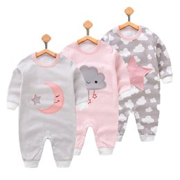 Wholesale baby clothing one piece - 2018 Baby Clothes Full Sleeve Cotton Infantis Baby Clothing Romper Cartoon One-pieces Outfits Kids Jumpsuit Girl Clothes