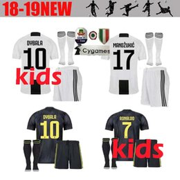 juventus soccer Jersey kids Kit 2018 19 RONALDO DYBALA HIGUAIN DANI ALVES  PJANIC Marchisio child 2018 2019 soccer Shirt uniforms 27ccaeb36