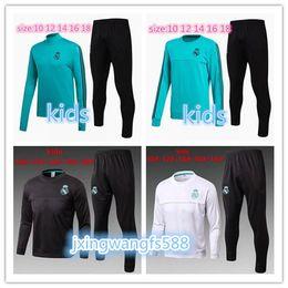 Wholesale Kids Boys Wear - kids Real Madrid survetement football KIDS tracksuits 2018 Ronaldo Long sleeve wear YOUTH training suit jacket kit CHANDAL SET