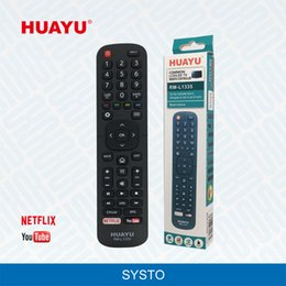 Wholesale lcd led smart tv - RM-L1335 Hot NETFLIX Function YouTube Button Universal TV Remote Controller Use for Hisense LED LCD HD Smart TV