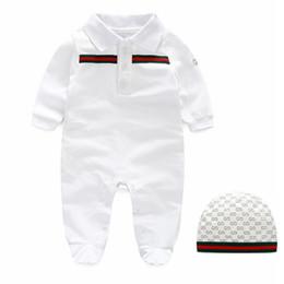 2019 cadono le jumper Neonato appena nato pagliaccetto infantile vestiti di cotone del bambino Bebe tute Autunno Inverno Outfits nuovo nato della neonata i pagliaccetti Pigiama cadono le jumper economici