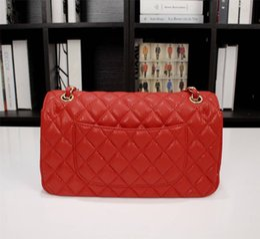 Wholesale International Women - 2018 Women Fashion Shoulder International Brand Chain Designer Bag Luxury 100% Real Leather Bag Handbag Sheepskin Shoulder Bag