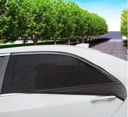 Pára-sol da janela traseira auto on-line-O envio gratuito de 2 Pcs Lateral Do Carro Parabrisa Traseiro Do Vidro Da Janela Sol Sombra cobertura de Malha Solar Proteção UV Viseira Escudo Sombrinha Auto Acessórios