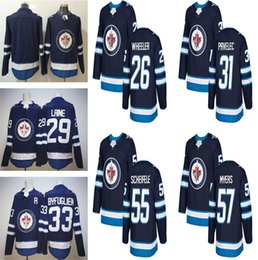 Wholesale New Jersey Jets - 2018 New Winnipeg Jets Hockey Jerseys 26 Blake Wheeler 29 Patrik Laine 33 Dustin Byfuglien 55 Mark Scheifele 57 Tyler Myers Blue JerseY