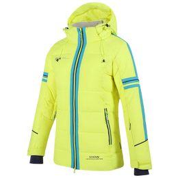 Algodón impermeable al aire libre online-traje de esquí mujer Algodón Pad Warm impermeable trajes de snowboard mujeres esquí al aire libre chaqueta de esquí + pantalón de snowboard