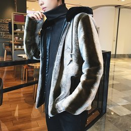 Wholesale Heavy Sewing - 2017 Winter Male Hip-Hop Style Faux Leather Imitate Fur Cotton Thickening Clothing Keep Warm Loose Vogue Heavy Metal Coats M-3xl