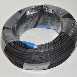 Wholesale Optic Cord - 300M Outdoor FTTH Fiber Optic Drop Cable Patch Cord SC to SC Simplex SM SC-SC 300 Meters Drop Cable Patch Cord