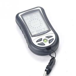 Барометр высотомера цифровой компас онлайн-Digital LCD 8 In 1 Compass+Altimeter+Barometer+Thermometer+Weather Forecast+History+Clock+Calendar for Hiking Outdoor