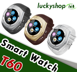 Wholesale Female Voice - Smart Watch T60 Phone Bluetooth Smartwatch Waterproof Automatic Voice Dial SIM TF FM Radio Music Pedometer Camera For Android IOS PK A1 DZ09