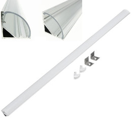 Wholesale Corner Triangle - 2m 45 Degree V Shaped Aluminum Wall Corner Triangle LED Bar Lights Accessories Channel Holder Milk Clear Cover End Up for LED Strip Light