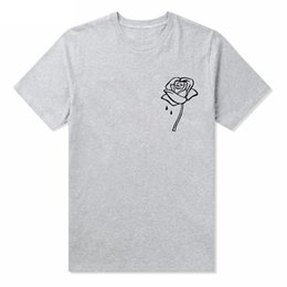 weiß bestickte hemden frauen Rabatt Rose Sticken T-Shirts Männer Sommer Tees Frauen Einfache Casual Tee Weiß Schwarz Grau Kurzarm Tops Kleidung