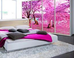 Wholesale Custom Wallpaper Designs - 3D Wallpaper Custom Cherry tree Photo Wallpapers For Living room TV Backdrop Design Decorative Paintings