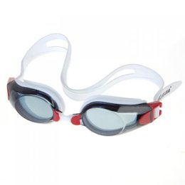 Wholesale clear offer - SZ-LGFM-Adult Anti-fog Swimming Goggles Glasses , PC Lens Offer UV Protection and Give Clear Vision - Red&Black