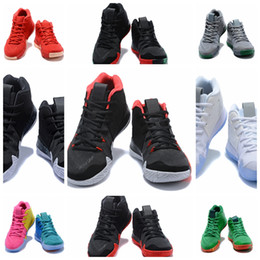 Wholesale Indoor Leather Basketballs - 2018 Irving 4 Men's Shoes Fashion Multicolor Basketball Star Street Culture High Quality Indoor & Outdoor Sneakers