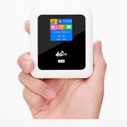 Wholesale Unlocked 4g Lte Modems - Portable Unlocked Mobile 4G Modem LTE Mini WiFi Router Pocket Wireless Hotspot Power Bank with SIM Card Slot Support 5200mAh Battery