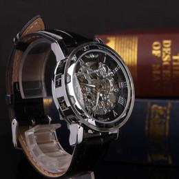 Esqueleto de Luxo dos homens Relógio de Couro Preto Esporte Retro Mecânico Automático de Aço Inoxidável Relógio de Pulso Montre Homme Shellhard cheap skeleton wrist watch black steel de Fornecedores de relógio de pulso esqueleto aço preto