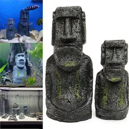 Wholesale wholesale aquarium decor - The Easter Island Statue Accessory Stone Pipe Decoration Product All For Fish Tank Aquarium Decoration Ornament Appliance Decor 0704241