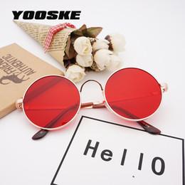 YOOSKE Retro gafas de Sol Redondas Mujeres Hombres Coloridos Grandes Espejo  Rojo Gafas de Sol Hombre Mujer Clásico Gafas Vintage Gafas 05beec996d93