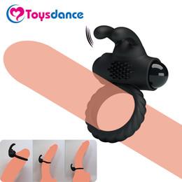 Silicone Vibrant Cock Ring de Toysdance Hommes Temps Durable Anneau Pénis Lapin Vibrateur Pour Couples Stimulation Clitoridienne Sex Toy Y18101001 ? partir de fabricateur