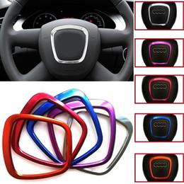 Для Audi Q5 аксессуары автомобиля украсить рулевое колесо логотип эмблемы 3D наклейки кольцо для Audi A3 A4 A5 Q3 Q5 Q7 аксессуары для интерьера от