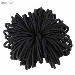 Wholesale Bobble Free - 50PCS Elastic Hair Bands Thick Endless Snag Free Hair Elastics Bobbles Bands tools