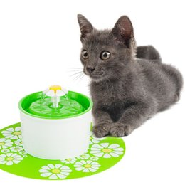 Wholesale pet water fountains - Hot Automatic Pet Water Feeder Electric Flower Fountain Cats Pet Bowl Drinking Water Dispenser Free Shipping