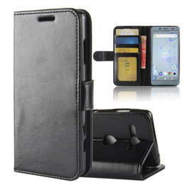 Wholesale xperia wallet - Case for Sony Xperia XZ2 Compact, Retro Flip TPU+ PU Leather Wallet Stand Cover with Photo Frame and Card Slots