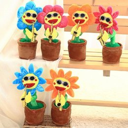 dancing singing flower cute sunflower with saxophone 24 songs soft stuffed plush toys funny electric toys for kids birthday christmas gift - Singing Christmas Toys