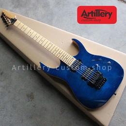 Argentina De calidad superior de fábrica personalizada IBAZ guitarra eléctrica 6 cuerdas con tapa de arce flameado cuello a través del cuerpo guitarras tienda de instrumentos musicales Suministro