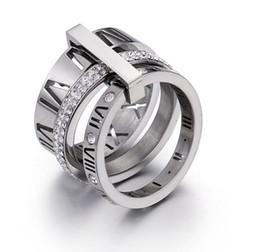 Valentines baratos on-line-Venda quente Tendência Moda Casais Anéis de Aço Inoxidável Titanium Anel de Diamante Anéis de Zircônia de Alta Qualidade Mix Barato Por Atacado