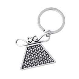 Wholesale Thailand Fashion Rings - Metal Crafts Antique Silver Plated Alloy Fashion Thailand Hill Tribe Amulet Hmong Jewelry Spirit Soul Lock Key Chains Key Rings For Gifts