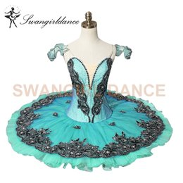 Wholesale Competitions Free - free shipping Adult green classical ballet tutu for competition professional ballet tutusBT8973