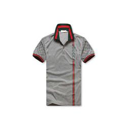Männer Designer Polo Shirts Sommer Luxus Polo Herren Hemd Lose Breathable  Gestreiften Brief Drucken Mode Lässig Stil Marke Shirt Italien gestreifte  ... a65282aa5f