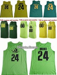 Wholesale Custom College Shirts - Custom Any Oregon Ducks Dillon Brooks College Basketball Jerseys 24 Dillon Brooks Shirts Green Cheap University Stitched Basketball Jersey