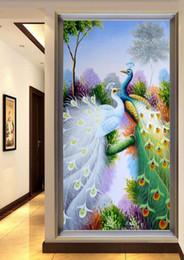 2019 китайские картины для девочек Алмаз вышивка 5D Diy Алмаз живопись вышивки крестом фиолетовый павлин картина 3D рукоделие алмазная мозаика украшения дома
