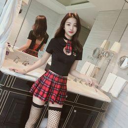 Uniforme de enfermera ropa online-la ropa interior atractiva atractiva de los uniformes de la enfermera de estudiante traje perspectiva tentación fuego de la noche de limpieza pasión