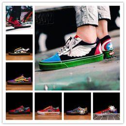 Nuove scarpe casual economiche Marvel 2.0 Moda The Avengers Deadpool Marvel Captain Iron Man Sneakers uomo ragno da