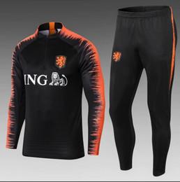 Hollanda yetişkin eşofman futbol Ceket takım elbise 18 19 chandal Futbol Forması eşofman spor hollanda ceket seti supplier l track nereden ben takip ederim tedarikçiler