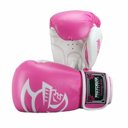 Wholesale Muay Thai Leather Gloves - 5 Color Pretorian 10OZ 12OZ Boxing Gloves Men Muay Thai PU Leather Boxing Gloves Punching Fighting Kick Boxing Glove